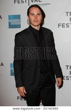 "NEW YORK - APRIL 21: Taylor Kitsch attends the 2011 TriBeCa Film Festival premiere of ""The Bang Bang Club"" at the BMCC TriBeCa PAC on April 21, 2011 in New York City."