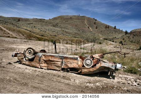 Car Crashed In Desert