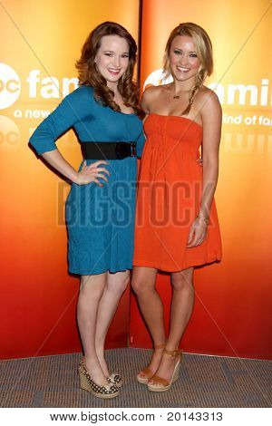 LOS ANGELES - MAY 14:  Kay Panabaker, Emily Osment at the Disney ABC Television Group May Press Junket 2011 at ABC Building on May 14, 2011 in Burbank, CA