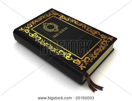 3D Illustration of the Quran