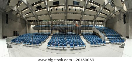 interior of a conference hall, view from the stage