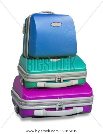 Three Colorful Suitcases
