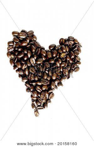 Herzen von Bohnen