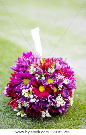 ball shaped bouquet