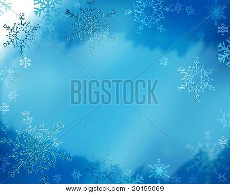 winter freeze snowflake background