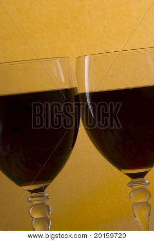 Cheers  - two glasses of wine