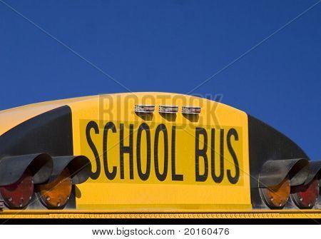 closeup back of school bus