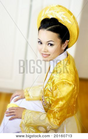 bride with cultural dress