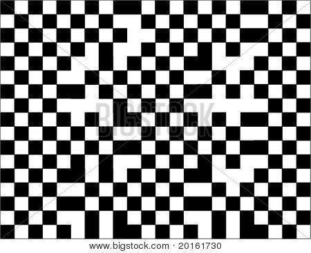 checkered background black and white