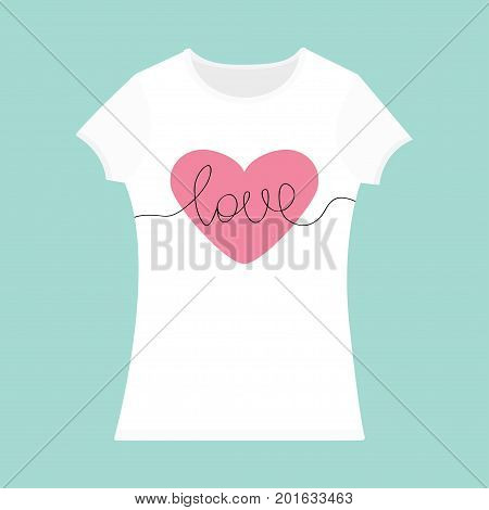 Word Love Lettering. Pink Heart. T Vector & Photo | Bigstock