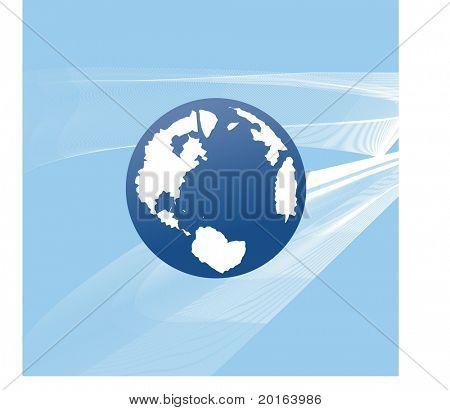 globe with mesh behind