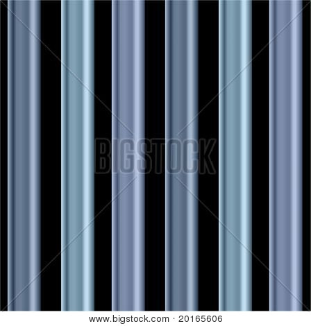 individual  blue bars on black background
