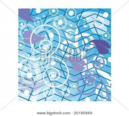 abstract background with spiral and crooked gird