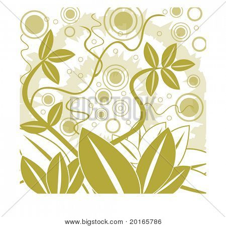 leaves with design