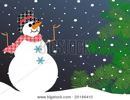 happy snowman - let it snow