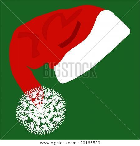sombrero de Santa con mullido pom-pom