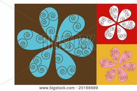 spiral flower petals for your design