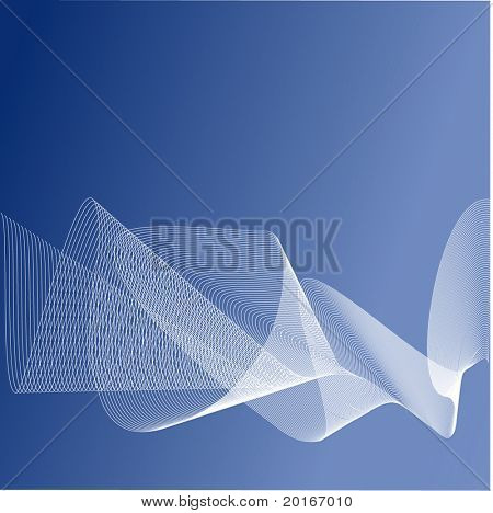 netting on soft blues