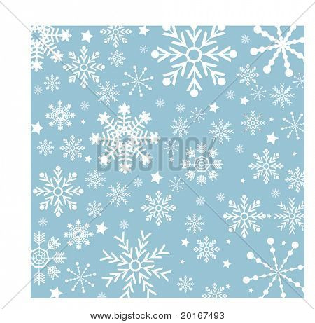 winter background snowflake series