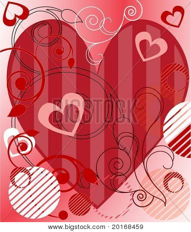 valentines heart with fancy background