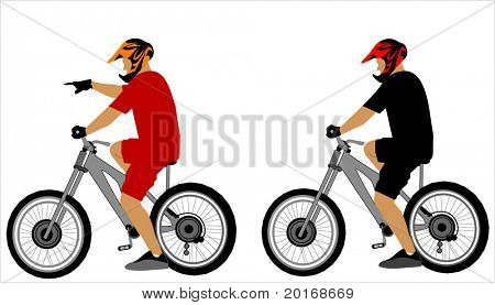 bike riders illustration