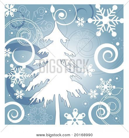 winter background illustration series