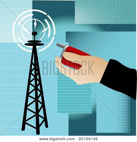 cell phone and radio tower