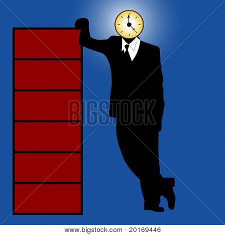 clock business vector
