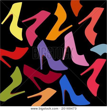 I love shoes vector