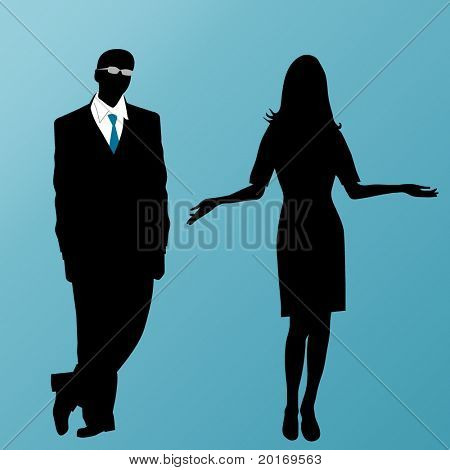 male and female business vector