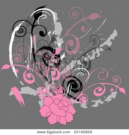 pink flower grunge
