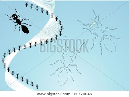 marching ants vector