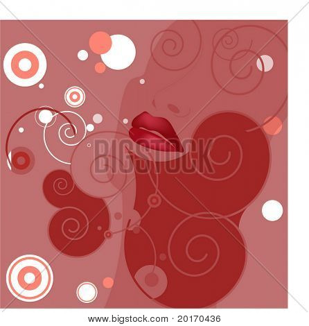 lips abstract vector