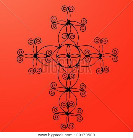 seamless funky celtic pattern vector