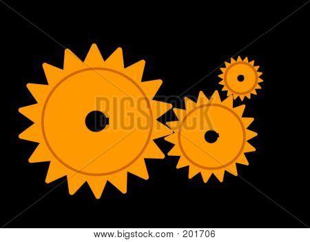Gear System 3 - Orange Glow