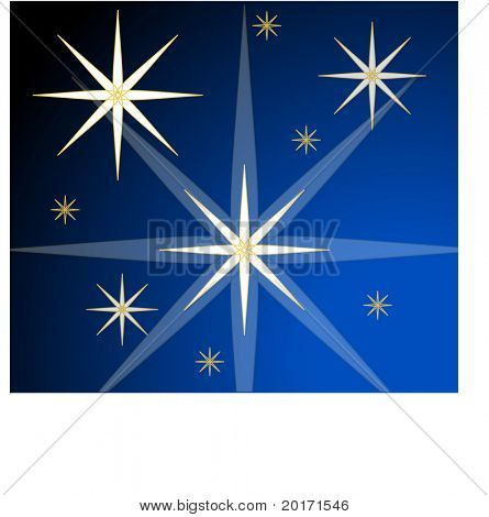 stars at night vector