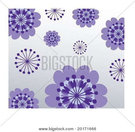 quirky funky flowers vector