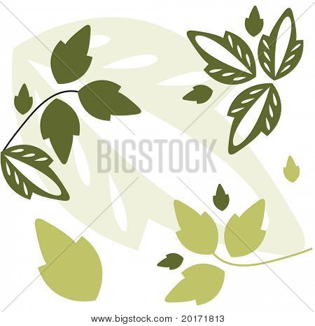 scattered decorative leaves