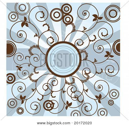 circle design brown and blue vector