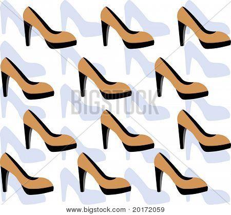 platform shoe background vector