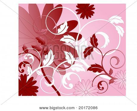 coil leaves background vector
