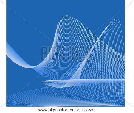 netting over blue