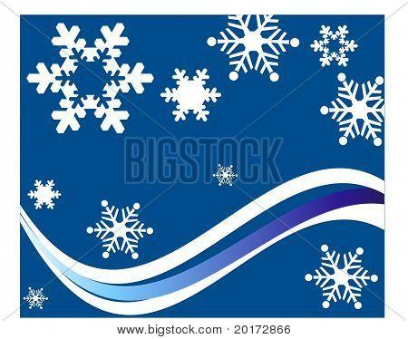 vector de copos de nieve