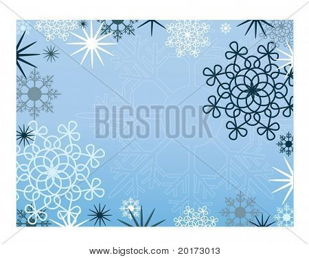 christmas frame vector series blue