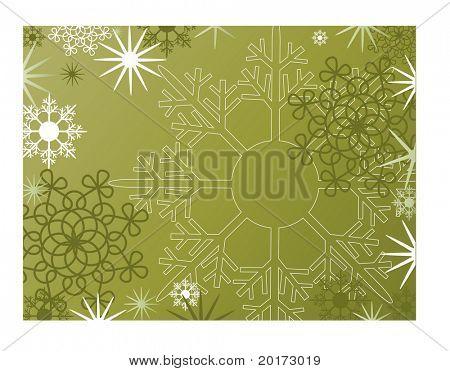 série do vetor de quadros de Natal verde