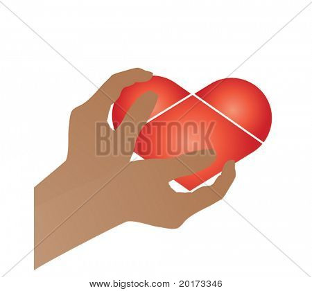 hands holding heart (use together or separately)