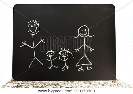 cute chalkboard family