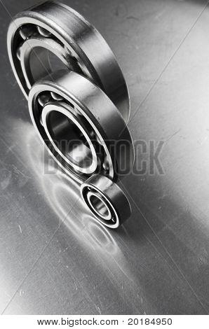 ball-bearings against aluminum