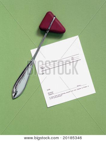 Reflex Hammer with Blank Script
