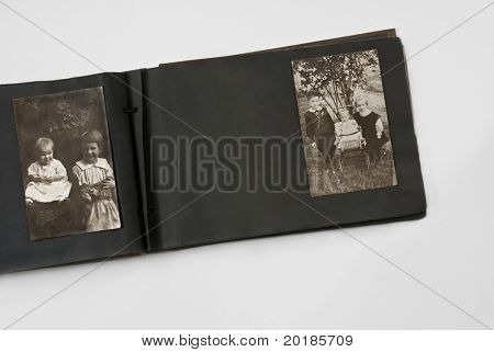 Children in Antique Photo Album
